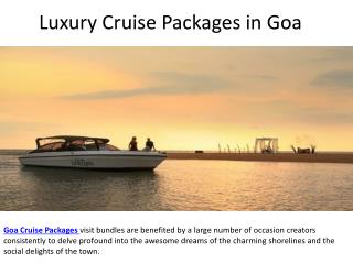 Luxury Cruise Packages in Goa