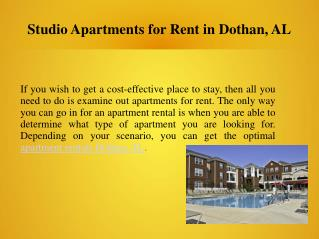 Studio Apartments For Rent In Dothan, AL
