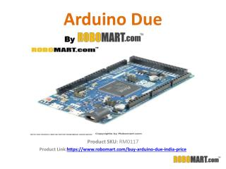 Order Arduino Due by Robomart