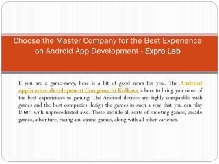 Android application development company in kolkata