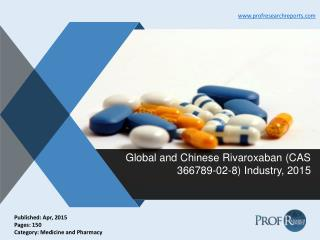 Rivaroxaban Industry Share, Market Size 2015 | Prof Research Reports