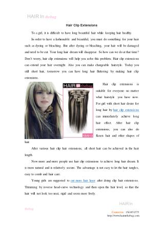 Hair Clip Extensions