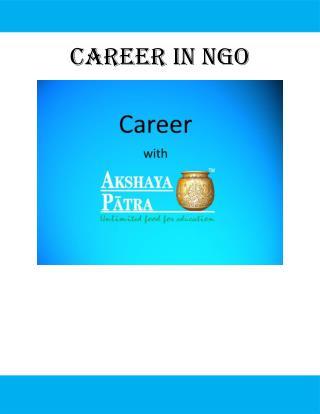 Career in NGO