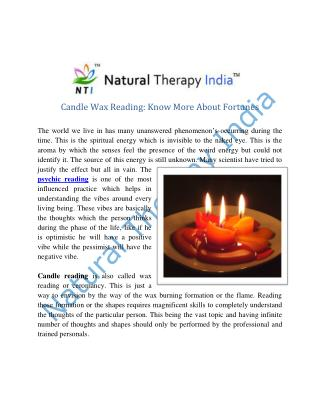 Candle Wax Reading in India | Best Candle Wax Reader