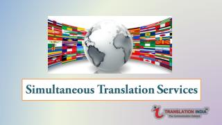 Simultaneous translation services
