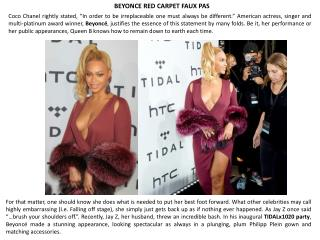 Beyonce red carpet faux pas