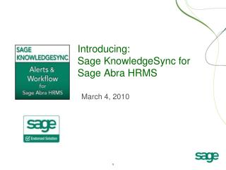 Introducing: Sage KnowledgeSync for Sage Abra HRMS