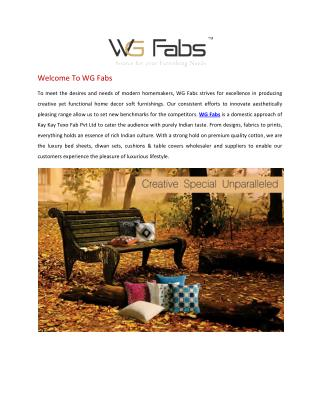 WG Fabs- Source for your Furnishing Needs