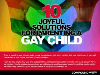 10 Joyful Solutions for Parenting a Gay Child