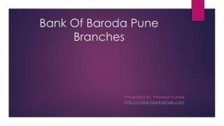 bank of baroda pune