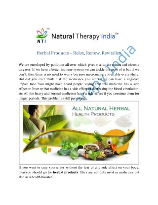 Herbal Products Manufacturers Suppliers Exporters India
