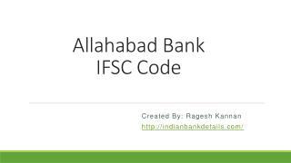 Allahabad Bank IFSC Code