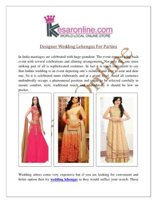 Wedding Lehenga Online Shopping | Designer Lehengas