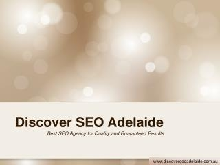 Quality SEO Services by Discover SEO Adelaide