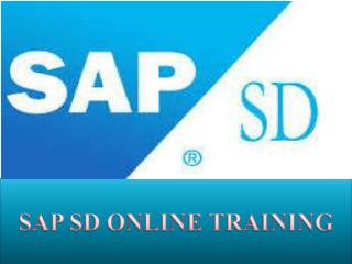 SAP SD Online Training Courses in INDIA, USA, UK, AUSTRILA