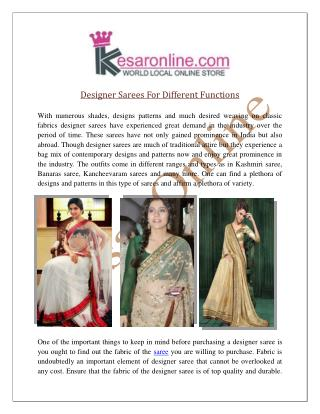 Designer Sarees Online Shopping | Buy Saree UK USA