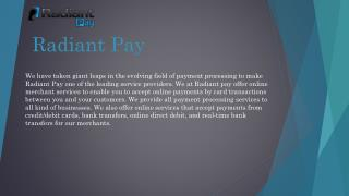 Online Payment Solutions by Radiant Pay