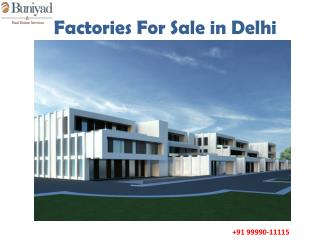 Industrial Factories in South Delhi for sale