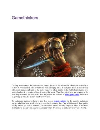 pc gamers games analysis video game india