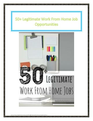 50  legitimate work from home job opportunities