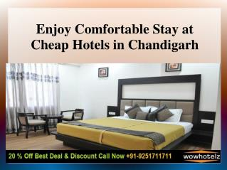 Book Cheap Hotels in Chandigarh at 1099/-
