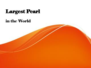 Largest Pearl
