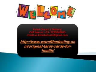 Original Tarot Cards For Health, 9799848845
