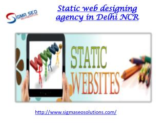 Static web designing agency in Delhi NCR
