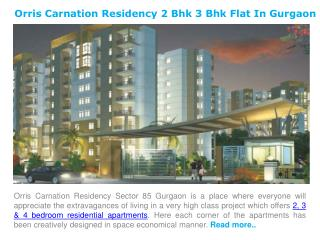 Carnation Residency 2 Bhk 3 Bhk Flat for Sale in Gurgaon