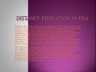 Distance education in BBA