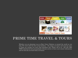 Prime Time Travel & Tours