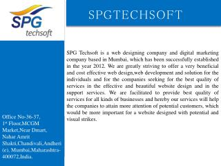 SPG Techsoft-Website Design  & Web Development Company In Mumbai