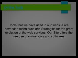Free Online Tools- iTechiTools.com