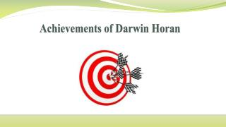 Achievements of Darwin Horan