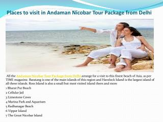 Places To Visit Andaman Nicobar Tour Package from Delhi