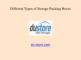 Types of Cardboard Storage Packing Boxes in Dubai, UAE