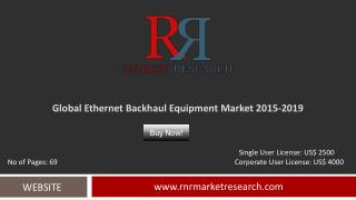 Ethernet Backhaul Equipment Market 2015 – 2019: Worldwide Forecasts and Analysis