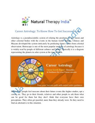 Career Astrology To Know How To Get Success in Life