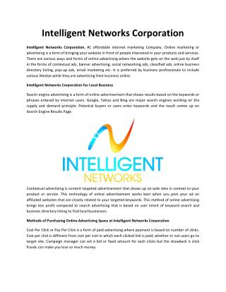 Intelligent Networks Corporation
