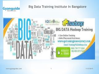 Big Data Training Institute In Bangalore