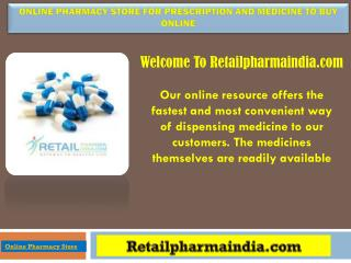 Online Pharmacy Store For Prescription and Medicine to buy online