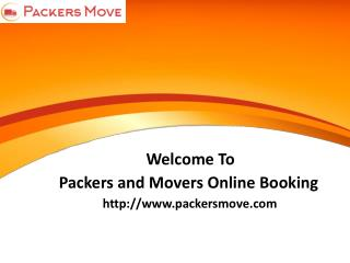 Online Packers and Movers Services