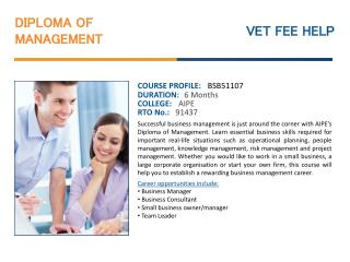 Diploma of management