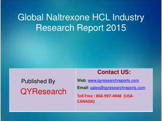 Global Naltrexone HCL Market 2015 Industry Growth, Trends, Analysis, Share and Research