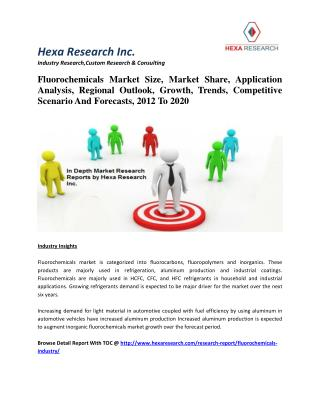 Fluorochemicals Market Size, Market Share, Application Analysis, Regional Outlook, Growth, Trends, Competitive Scenario