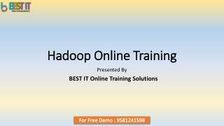 Hadoop Online Training in India - Best IT