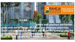 Raheja Aranya City in Sohna, Property in Sohna, Residentila project in Sohna