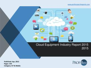 Cloud Equipment Industry Share, Market Size 2015 | Prof Research Reports