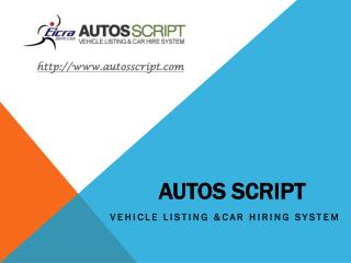 Classified Vehicles dealer Script for Automobile and Vehicles by Eicra Soft