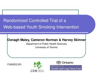 Randomized Controlled Trial of a  Web-based Youth Smoking Intervention